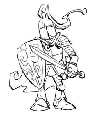 knight-coloring-sheet