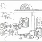 Lego Duplo Post and Police Coloring Pages