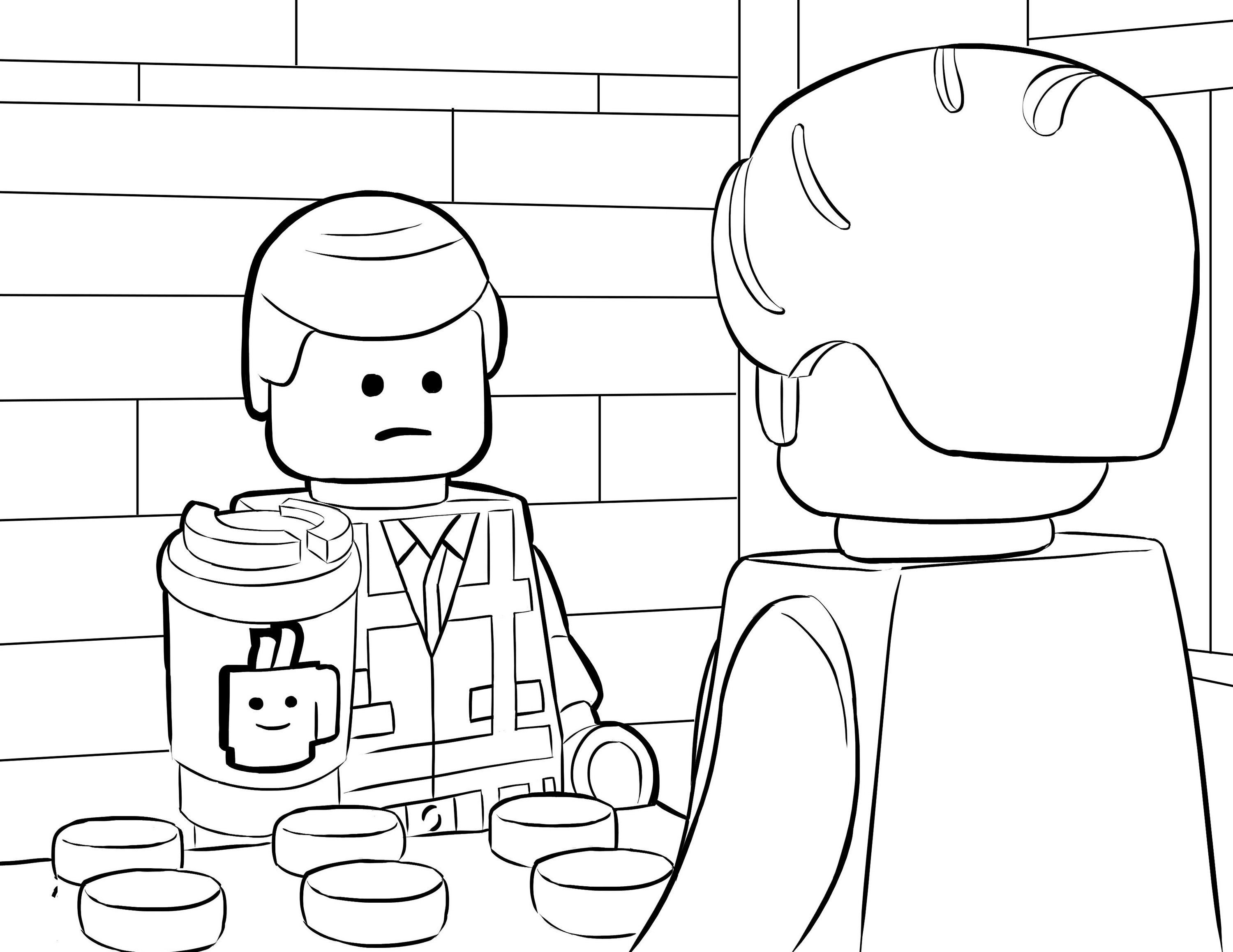 Lego movie emmet coloring page online for Lego movie coloring pages