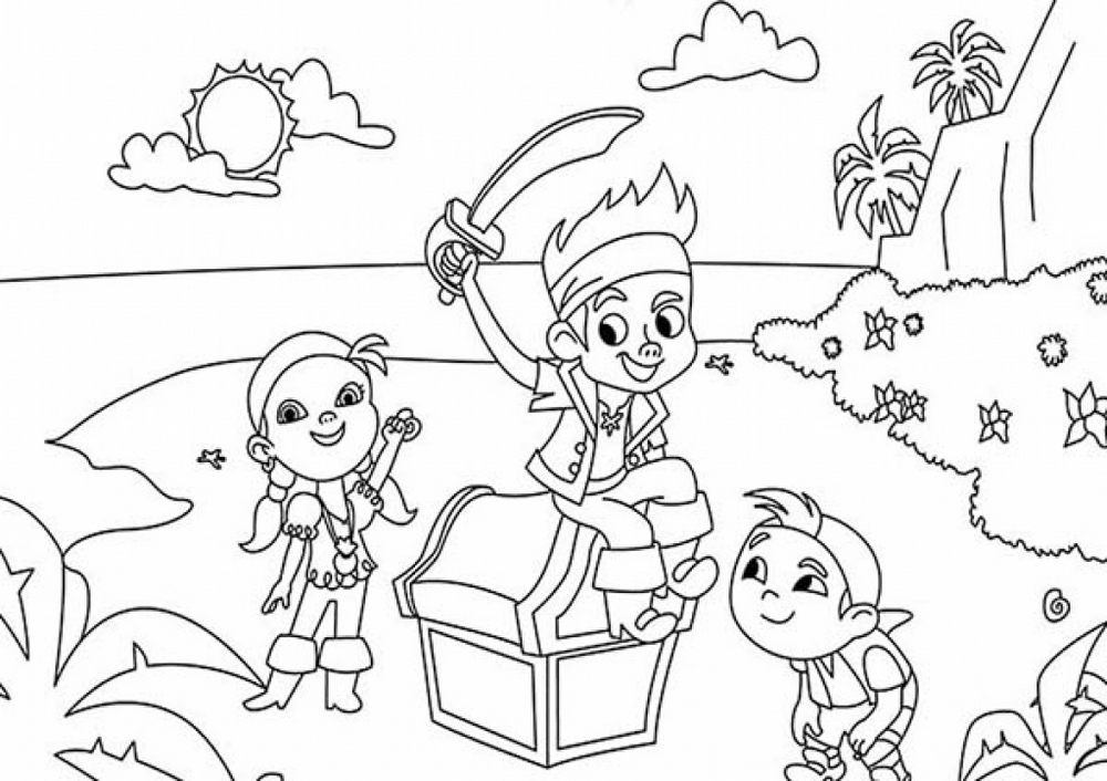 Jake and the never land pirates coloring print out for Jake and the pirates coloring pages