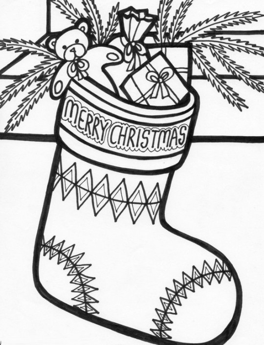merry-Christmas-Stocking-Coloring-Picture