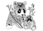 Zentangle Panda Coloring Pages