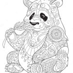 panda-eating-bamboo-zentangle-coloring-page