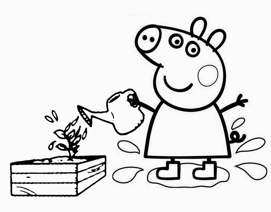 Peppa Pig Coloring Page To Print