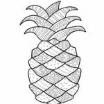 pineapple-fruit-zentangle-print-out-drawing