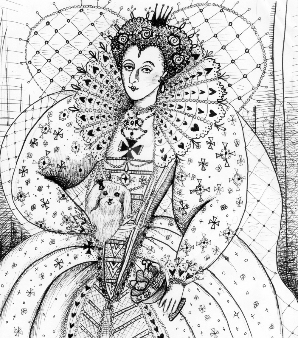 queen_elizabeth_I_coloring_page_the_old