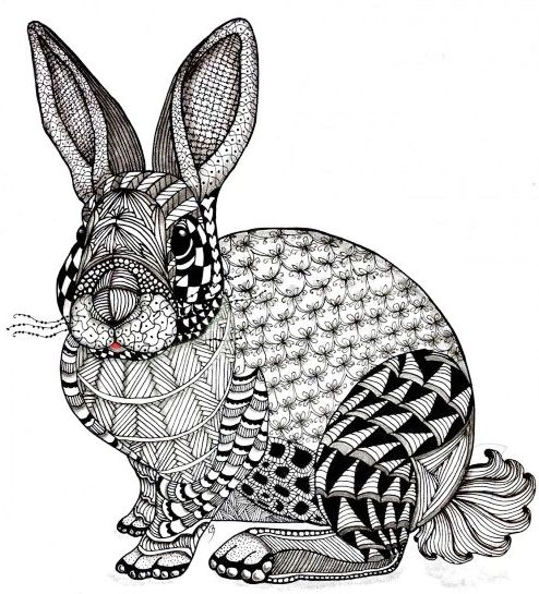 rabbit-zentangle-art-wroksheet