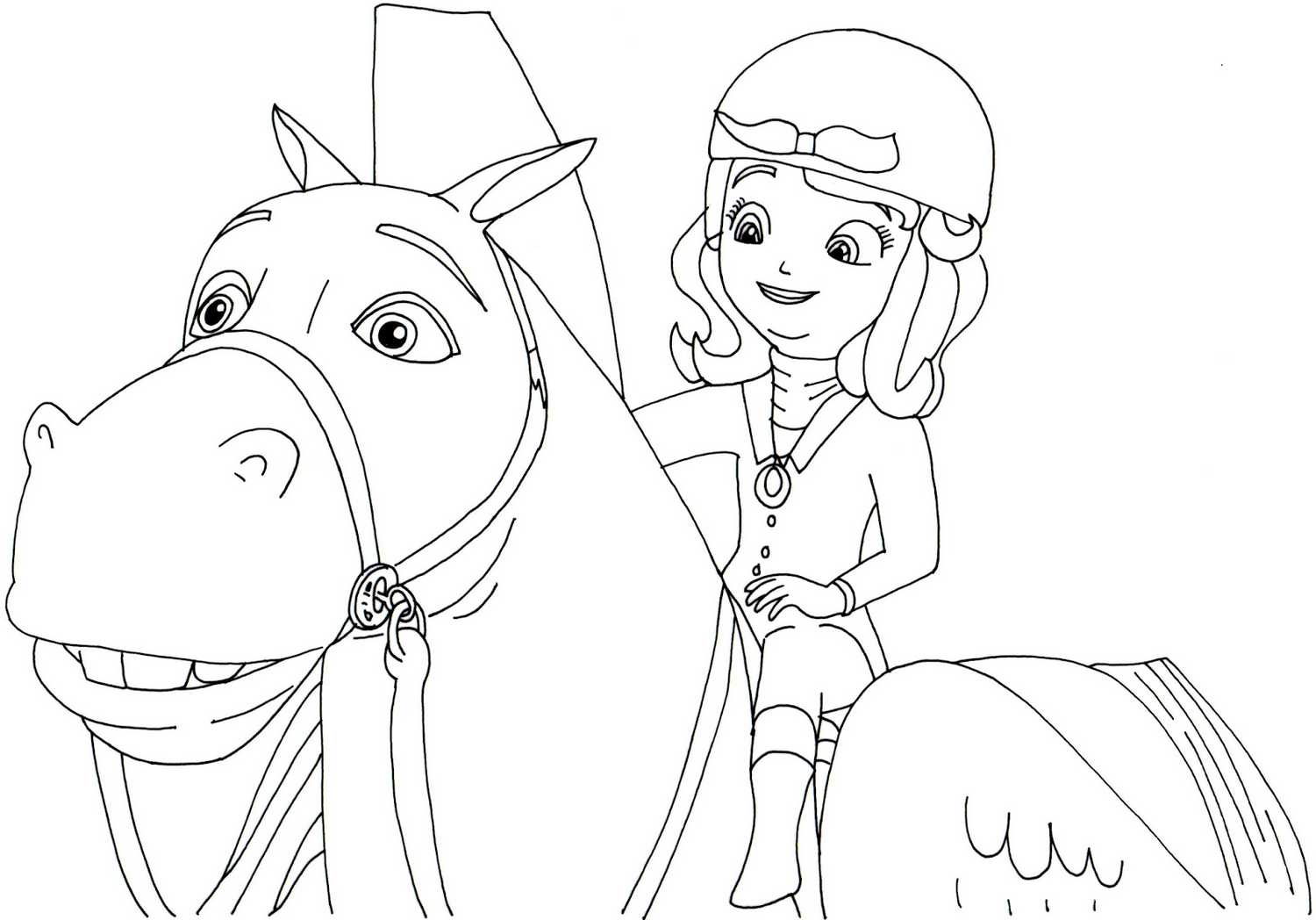 sofia-the-first-and-horse-coloring-book