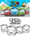 4 Cutest Tayo The Little Bus Coloring Pages for Children