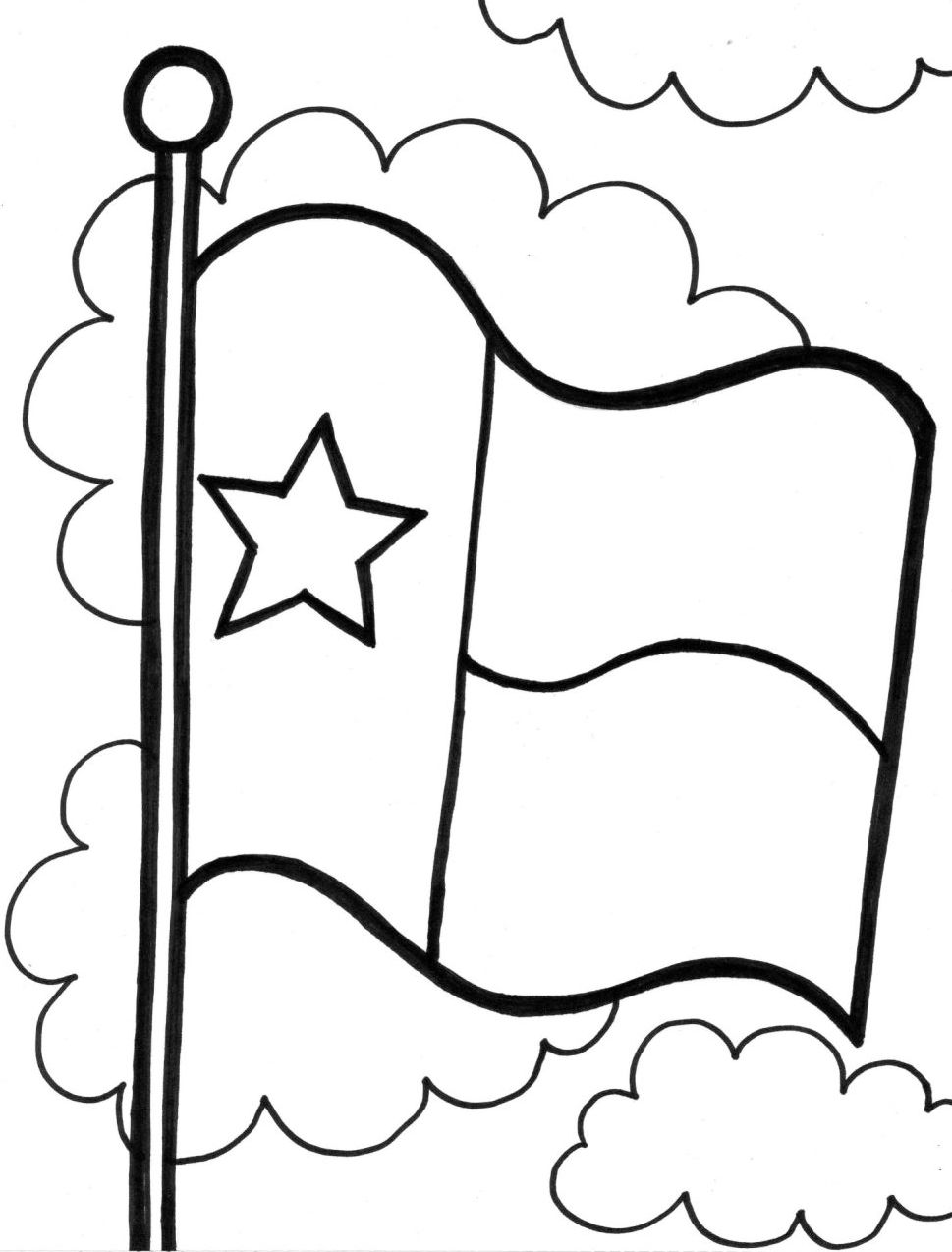 Texas Symbol Coloring Pages Coloring Pages