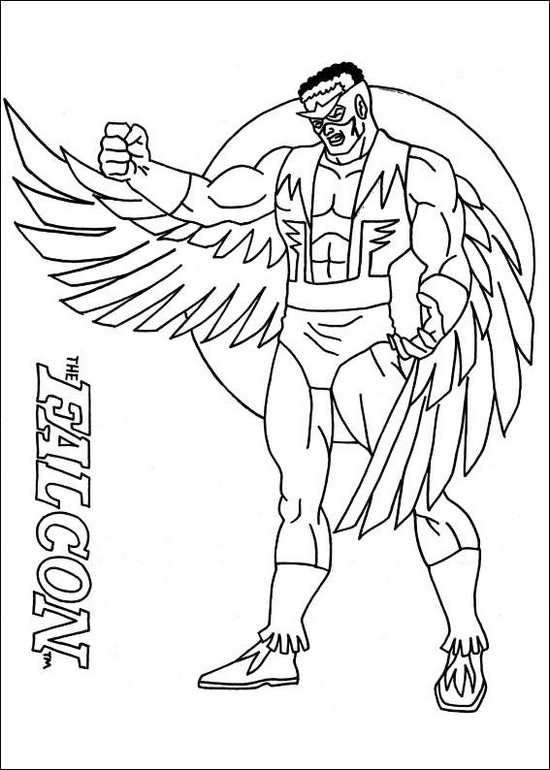 the-falcon-superhero-coloring-page