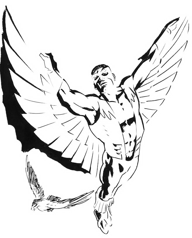 marvel falcon coloring pages - photo#14