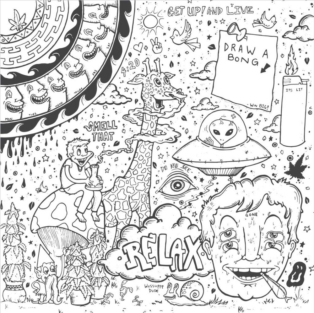 Trippy Coloring Pages - Coloring Pages