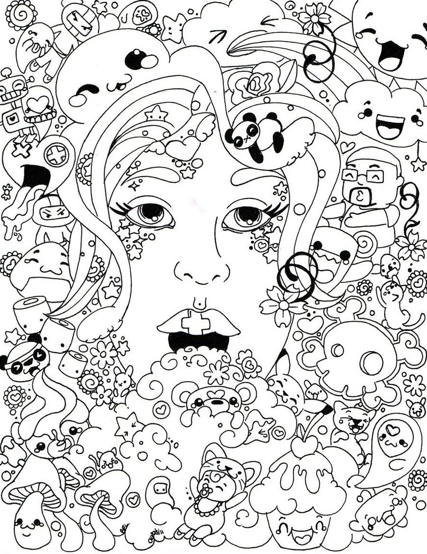 trippy-face-coloring-page