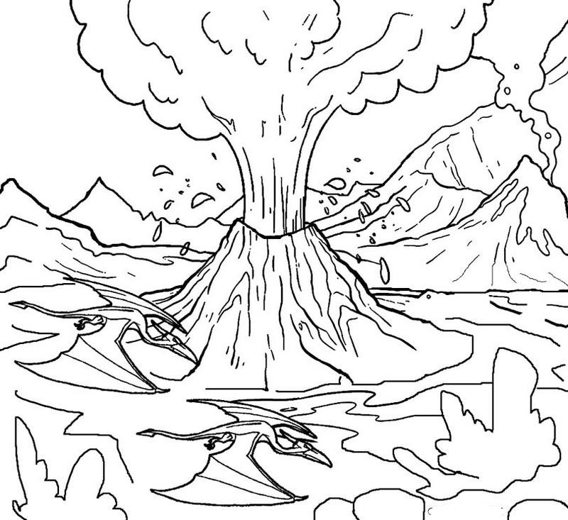volcano-erruption-coloring-page