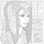 zentangle-ancient-cleopatra-coloring-page