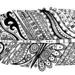 zentangle-banana-leaf-coloring-sheet