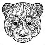 Zentangle head of panda