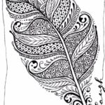 zentangle-leaf-coloring-picture