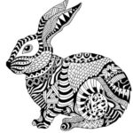 zentangle-rabbit-coloring-picture