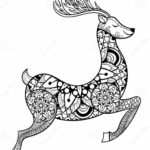 zentangle-vector-reindeer-coloring-pages