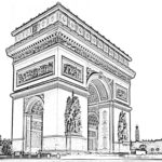 Arc-de-Triomphe-Paris-Coloring-Pages-to-print