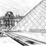 Beautiful-Louvre-Paris-Coloring-Pages