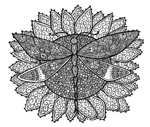 Dragonfly Mandala Coloring Pages Coloring Pages