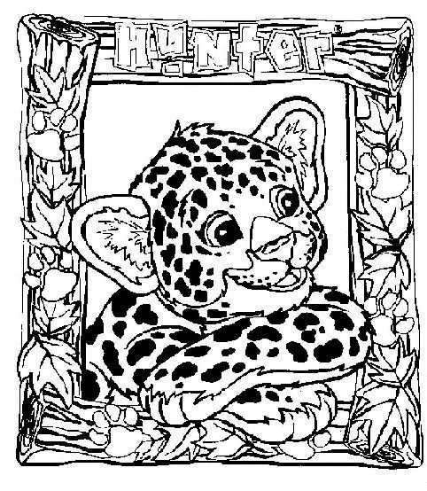 Adult Coloring Page Lisa Frank