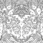 Magical Jungle Background Coloring Book