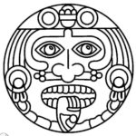 Mosaic-and-Geometric-Ancient-Mask-Coloring-Pages