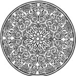 Mosaic-and-Geometric-Circle-Patterns-Coloring-Pages