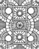 Stress Less Coloring – Mosaic and Geometric Patterns Coloring Pages