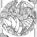 Opera-Theater-Sydney-Circular-Cities-Coloring-Book