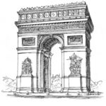 arc-de-triomphe-napoleon-bonaparte-paris-coloring-pages