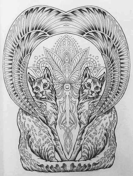 colour-my-sketchbook-coloring-book-cat-and-cultural-symbols