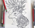 Deer Mandala Coloring Pages