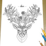 deer-zentangle-coloring-page