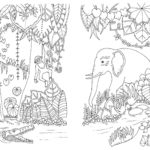 Magical Jungle Elephant coloring book