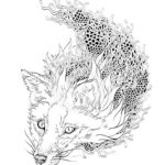 mandala-fox-coloring-sheet