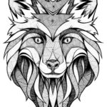 mandala-fox-face-coloring-page