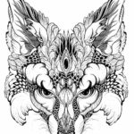 mandala-fox-mask-coloring-page
