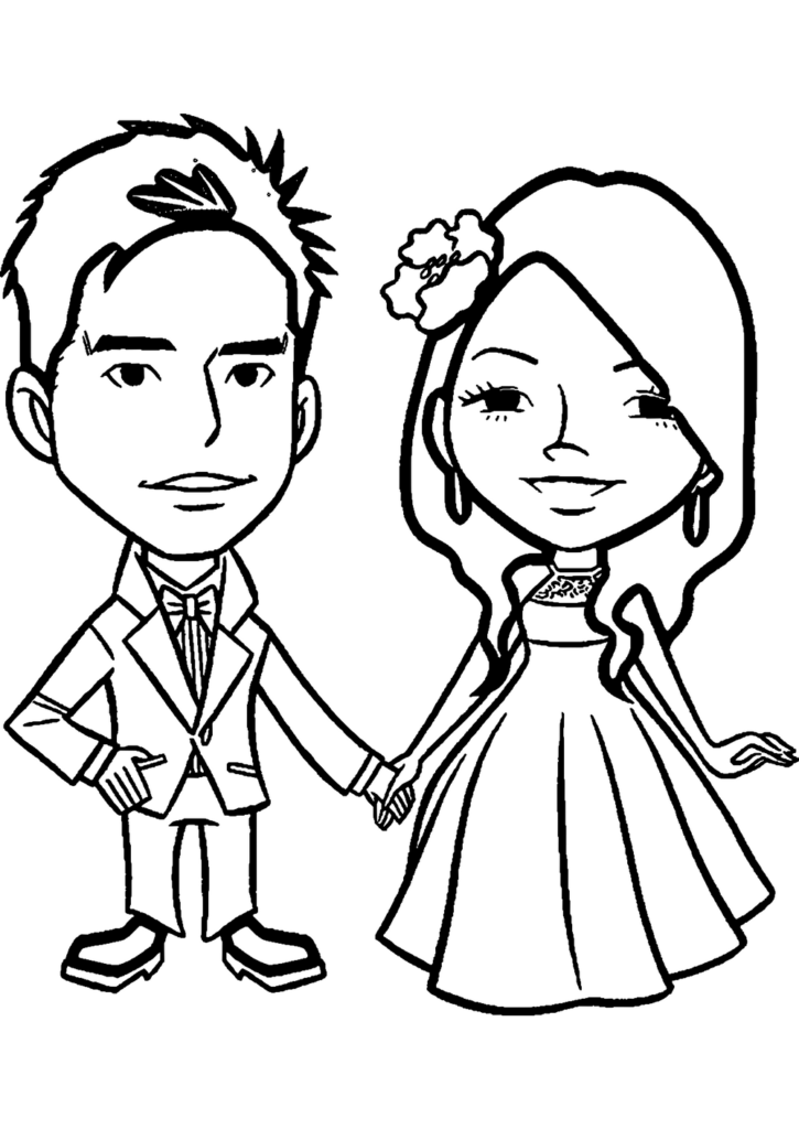 Marriage anniversary coloring page for Marriage coloring pages