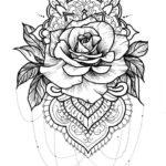 printable-mandala-rose-coloring-pages
