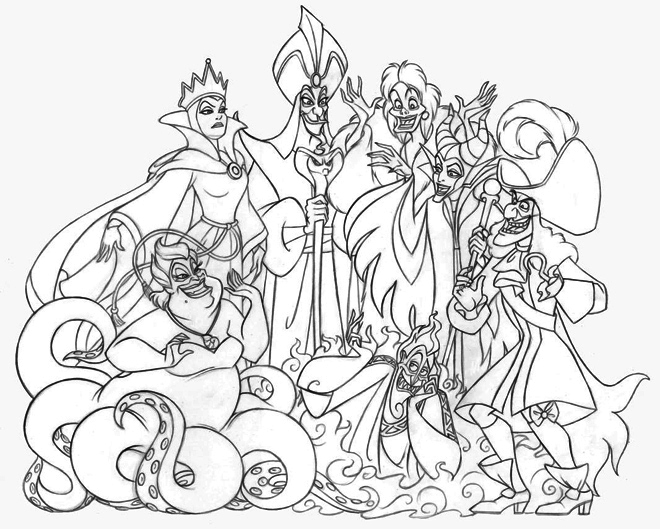 Disney-Villains-Group-coloring-page