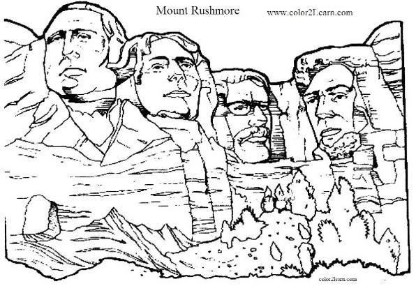 mount_rushmore_coloring_picture