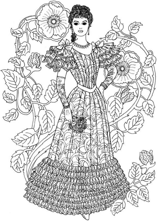 old-fashion-dress-coloring-page-printable