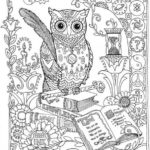 Mandala-Owl-and-book-coloring-page