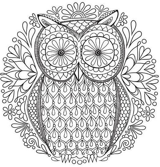 mandala-owl-coloring-reducing-stress