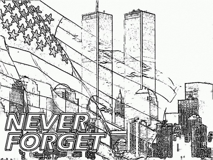 9 11th coloring pages printable for September 11 coloring pages